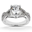 1.87 carats diamonds engagement ring white gold new