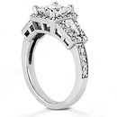 Diamond princess cut engagement ring 2.25 ct. diamonds