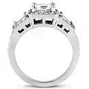 Diamond princess cut engagement ring 2.25 ct. diamonds