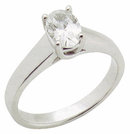 1.65 ct F VS1 oval diamond engagement ring CUSTOMIZED