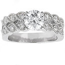 2.11 Ct. Diamond wedding ring band set white gold new