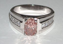 2.01 carats PINK DIAMOND ring solitaire fancy antique
