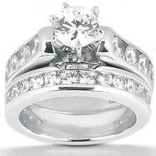 2.65 Ct. engagement set diamonds F VVS1 white gold ring