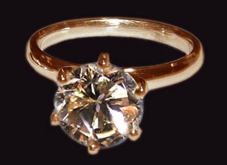 1.51 carat champagne diamond jewelry ring set pink gold