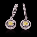 3.5 ct. yellow canary diamonds chandelier earrings gold