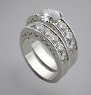 1.75 carat diamonds engagement ring band set white gold
