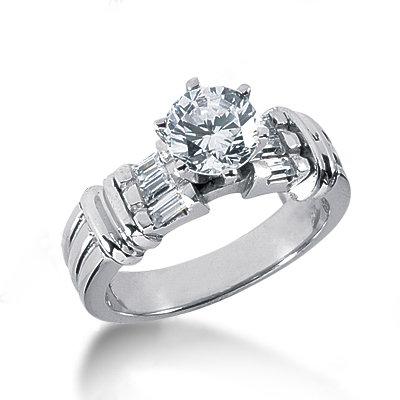 2 carat white round diamonds engagement ring gold
