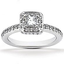 2.12 Ct. diamonds F VVS1 white gold engagement ring new