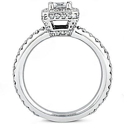 2.12 Ct. diamonds F VVS1 white gold engagement ring new