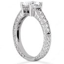 Oval cut 1.75 carat diamonds engagement ring white gold