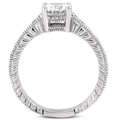 Oval cut 1.75 carat diamonds engagement ring white gold