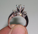2.75 carats ROUND DIAMONDS RING antique look gold HEART