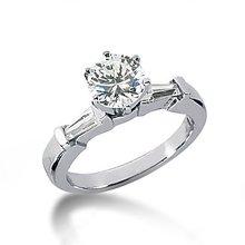 2 carat diamonds 3 stone engagement ring white gold