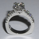 2.53 carat DIAMOND ROUND CUT antique look ring gold