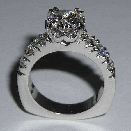 2.53 carat DIAMOND ROUND CUT antique look ring gold