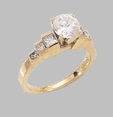 2.01 CT VS1/VVS1 DIAMOND solitaire ring accents NY