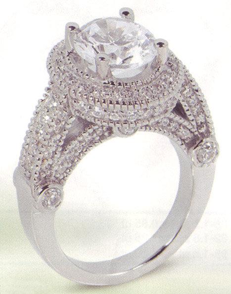3.51 carat diamond engagement ring luxurious antique