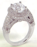 3.51 carat diamond engagement ring luxurious antique