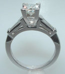 F VS1/VVS1 PRINCESS diamond engagement ring CUSTOMIZED