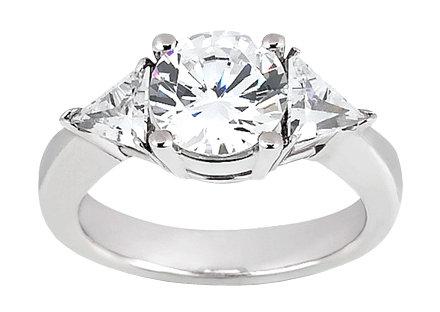 2.75 carat Round cut trilliant diamond ring platinum