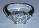 2.85 carat princess cut trilliant diamond ring platinum