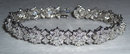 8 carats GORGEOUS tennis bracelet antique look jewelry
