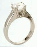 1.5 carat K VS1 round diamond solitaire ring PLATINUM