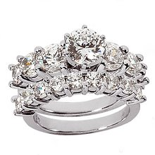 3 carats diamonds engagement band F VVS1 diamond ring