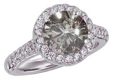 2.76 carats round PINK DIAMOND ring solitaire fancy