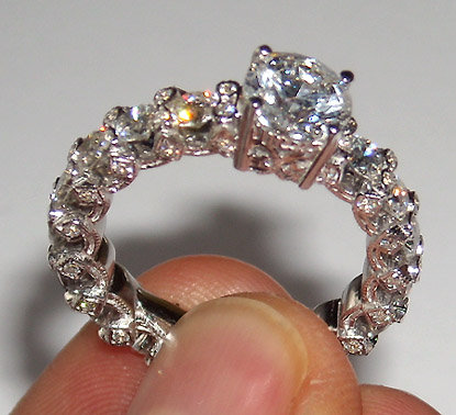 4.01 carats diamond eternity engagement ring solitaire