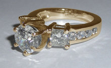 Diamonds ring 3.5 ct. diamonds ring yellow gold jewelry