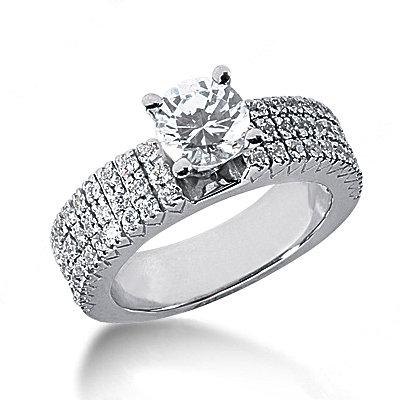 2.01 carat diamonds engagement ring F VVS1 diamonds