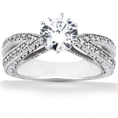 2.01 carat diamonds engagement ring white gold new