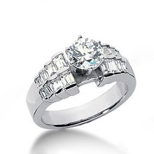 3 carat diamonds engagement ring white gold new