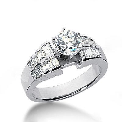 3 carat diamonds engagement ring white gold new
