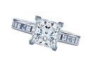 Princess diamonds 2.51 carat engagement ring gold white