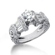 2.51 carat diamonds engagement ring antique style
