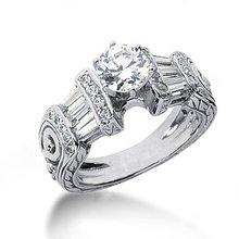 2.51 carat diamonds engagement ring antique style