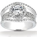 2.85 Ct. F VVS1 diamonds ring white gold wedding ring