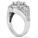 2.72 Ct. Big diamond ring gold anniversary jewelry ring
