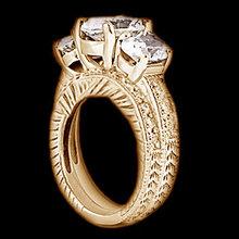 3.01 carat diamonds engagement ring band set 3 stone