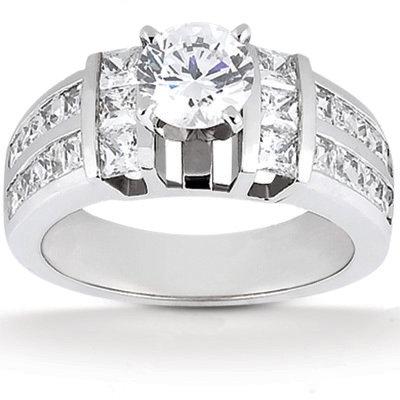 3.01 carat diamonds F VVS1 anniversary ring white gold
