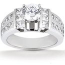 3.01 carat diamonds F VVS1 anniversary ring white gold