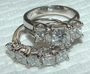 3 carats princess DIAMOND engagement ring CUSTOMIZED
