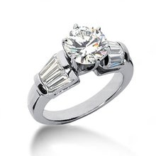 Diamonds 2.50 carat ring 3 stone style engagement ring