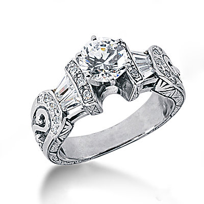 Diamonds engagement ring 2.26 ct. diamonds wedding ring
