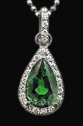 2.51 carat diamonds pendant necklace pear cut diamond
