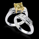 2.75 cts. Yellow canary diamonds engagement ring band