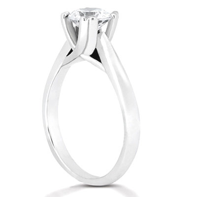 Diamond solitaire ring F VS1 jewelry 1.51 ct. platinum