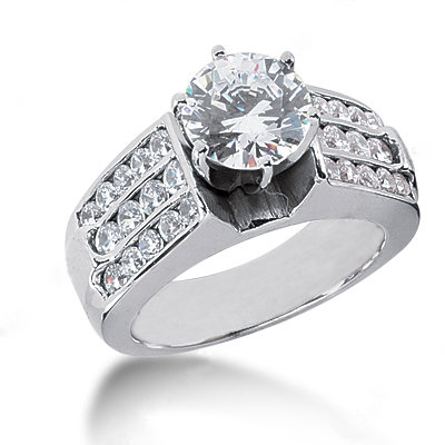 Diamonds anniversary ring 2.51 cts. diamond & gold ring